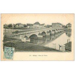 carte postale ancienne 70 GRAY. Pont de Pierre 1905. Top Rare carte écrite à Raphaël Paynot, Sculpteur Modeleur...