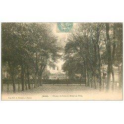 carte postale ancienne 70 JUSSEY. Champ de Foire et Hôtel de Ville 1906
