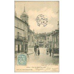 carte postale ancienne 70 JUSSEY. Rue Hôtel de Ville 1904
