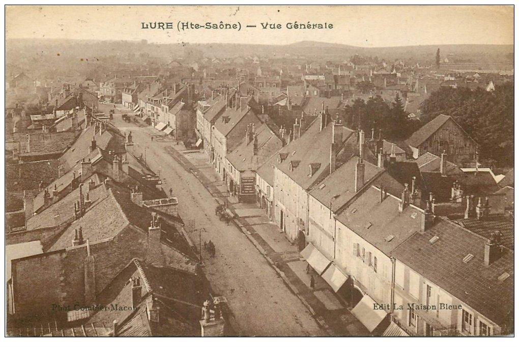 carte postale ancienne 70 LURE. Vue 1927