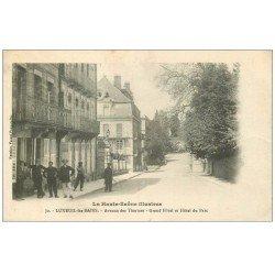 carte postale ancienne 70 LUXEUIL. Grand Hôtel et du Parc avenue des Thermes 1916
