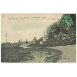 carte postale ancienne 70 VESOUL. Les Rochers de la Motte 1914