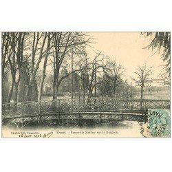carte postale ancienne 70 VESOUL. Passerelle Meiilher sur le Durgeon 1903