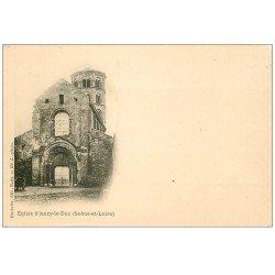 carte postale ancienne 71 ANZY-LE-DUC. L'Eglise vers 1900