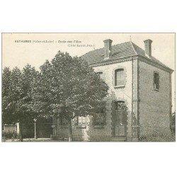 carte postale ancienne 71 AUTHUMES. Ecole des Filles