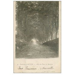 carte postale ancienne 71 AUTUN. Allée Parc de Monjeu 1903