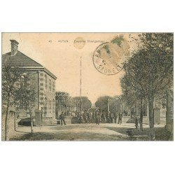carte postale ancienne 71 AUTUN. Caserne Changarnier 1920