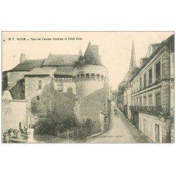carte postale ancienne 71 AUTUN. Hôtel Rolin Tour ancien Castrum