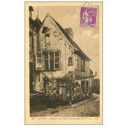 carte postale ancienne 71 AUTUN. Maison du Saint-Christophe 1935