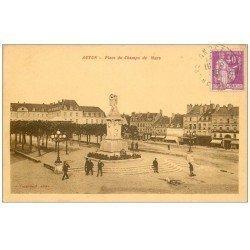 carte postale ancienne 71 AUTUN. Place Champs de Mars 1935