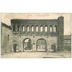 carte postale ancienne 71 AUTUN. Porte Saint-André 1915