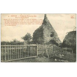 carte postale ancienne 71 AUTUN. Pyramide Pierre de Couhard 1913