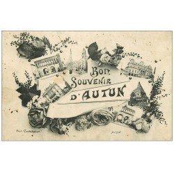 carte postale ancienne 71 AUTUN. Souvenir.