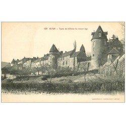carte postale ancienne 71 AUTUN. Tours de défense du Moyen-Age