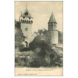 carte postale ancienne 71 BLANZY. Château de Plessis 1908