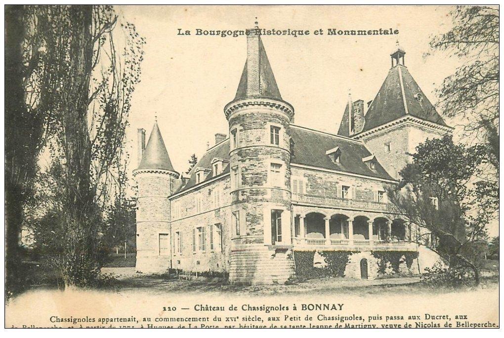 carte postale ancienne 71 BONNAY. Château de Chassignoles
