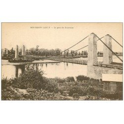 carte postale ancienne 71 BOURBON-LANCY. Pont du Fourneau