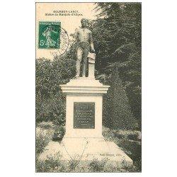 carte postale ancienne 71 BOURBON-LANCY. Statue Marquis d'Aligre 1908