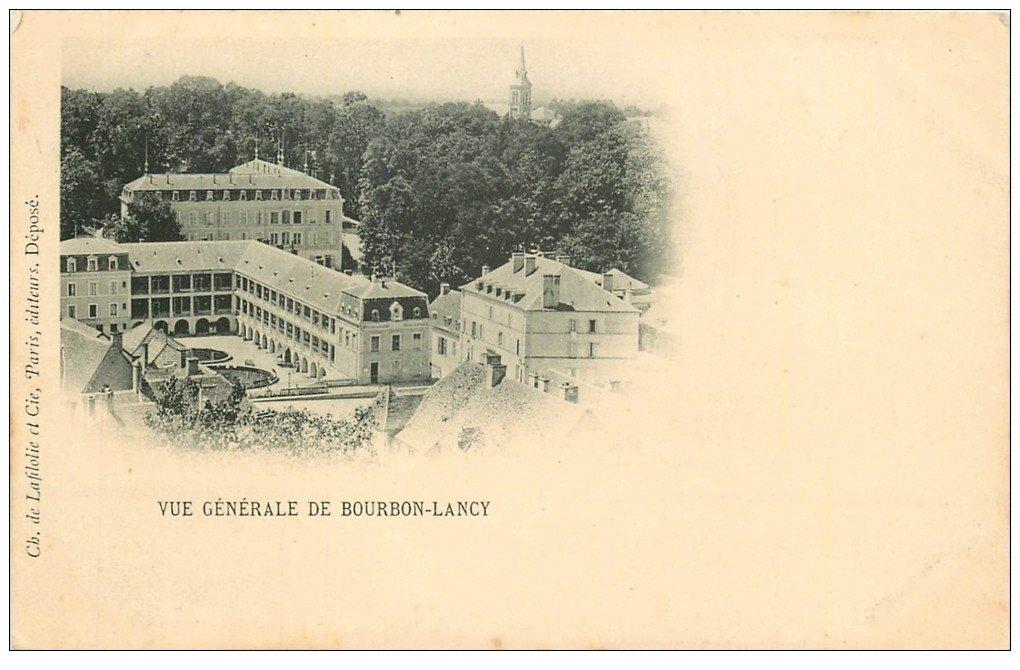 carte postale ancienne 71 BOURBON-LANCY. Vue vers 1900