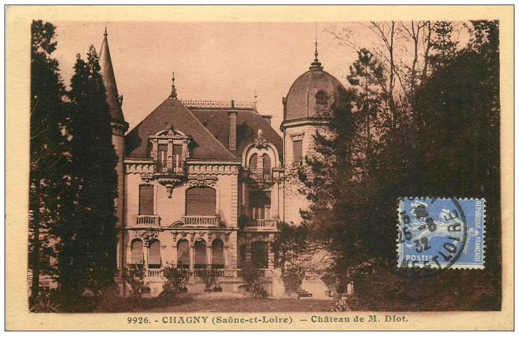 carte postale ancienne 71 CHAGNY. Château Diot 1932