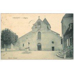 carte postale ancienne 71 CHAGNY. L'Eglise 1923