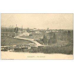 carte postale ancienne 71 CHAGNY. Vue générale vers 1900