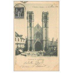 carte postale ancienne 71 CHALON-SUR-SAONE. Cathédrale Saint-Vincent 1901