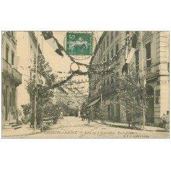 carte postale ancienne 71 CHALON-SUR-SAONE. Fêtes du 8 Septembre Port-Villiers 1907