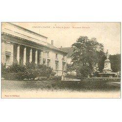 carte postale ancienne 71 CHALON-SUR-SAONE. Palais de Justice 1904 et Thevenin
