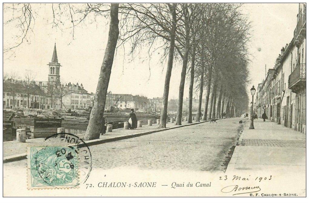 71 chalon sur saone quai du canal 1903 for Chalon sur saone 71