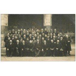 71 CHALON-SUR-SAONE. Rare Carte Photo de Professeurs et Personnel Lycée. Buret, Blanchard, Pesnault, Morin, Bonnet...