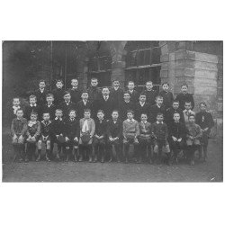 carte postale ancienne 71 CHALON-SUR-SAONE. Rare Carte Photo du Professeur, Collégiens et Etudiants vers 1910-20