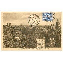 carte postale ancienne 71 CHALON-SUR-SAONE. Vue générale 1932