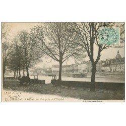 carte postale ancienne 71 CHALON-SUR-SAONE. Vue prise de l'Hôpital 1903