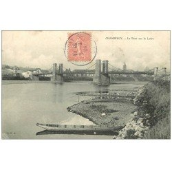 carte postale ancienne 71 CHAMBILLY. Le Pont sur la Loire 1906
