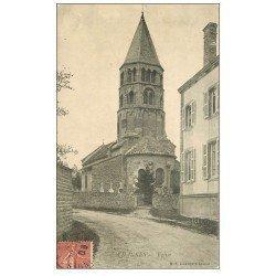 carte postale ancienne 71 CHANNES. Eglise et Cimetière