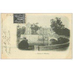 carte postale ancienne 71 CHATEAU DE MONTCOY 1901