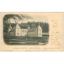 carte postale ancienne 71 CHATEAU DE MONTJEU 1902