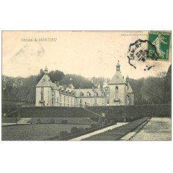 carte postale ancienne 71 CHATEAU DE MONTJEU 1908