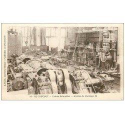 carte postale ancienne 71 LE CREUSOT. Atelier Montage 1916. Usines Schneider