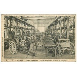 carte postale ancienne 71 LE CREUSOT. Ateliers Artillerie matériel de Campagne. Usines Schneider