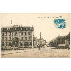 carte postale ancienne 71 LE CREUSOT. Rue Maréchal Foch 1923
