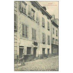 carte postale ancienne 71 MACON. Maison de Lamartine et Jeune Livreur.