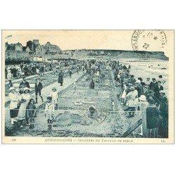 carte postale ancienne 14 ARROMANCHES. Concours Travaux de Sable 1922