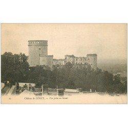 carte postale ancienne 02 COUCY-LE-CHATEAU. Vue du levant