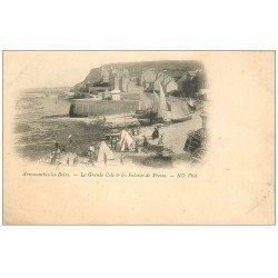 carte postale ancienne 14 ARROMANCHES. Grande Cale Falaises de Fresne vers 1900