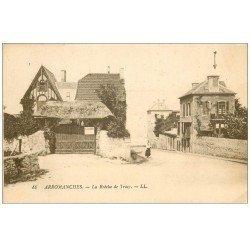 carte postale ancienne 14 ARROMANCHES. La Brèche de Tracy 1924