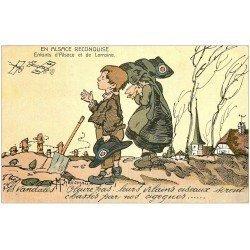 68 ALSACE RECONQUISE. Enfants d'Alsace Lorraine. Illustrateur Maréchaux. Les vandales chassés par les Cigognes...