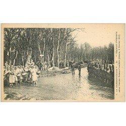 68 ALSACE. Guerre 1914-18. Lieutenant-Colonel Régiment d'Infanterie Poteau-Frontière... avec Fanfare Militaire