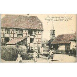 carte postale ancienne 68 ALTENOCH. Le Village avec Militaire cycliste. Guerre 1914